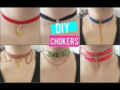 diy chokers faciles y bonitos Cute Choker Necklaces, Diy Choker, Neck Choker, How To Make Necklaces, Modern Jewelry, Metal Jewelry, Diy Jewelry, Jewelry Making, Jewlery