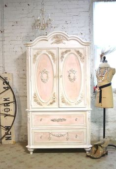 Painted Cottage Chic Shabby Romantic French Armoire AM165 by paintedcottages on Etsy https://www.etsy.com/listing/225409105/painted-cottage-chic-shabby-romantic #shabbychicdresserscolors #DIYHomeDecorShabbyChic