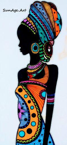 Black Girl Art, Black Art, Arte Black, African Quilts, Afrique Art, African Art Paintings, Indigenous Art, Mural Art, Tribal Art