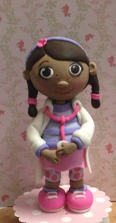 Fondant Doc Mcstuffins  cake topper by Paolascreations on Etsy, $45.00