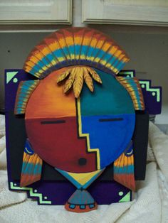 Kachina Mask Wall Painting. Ebay