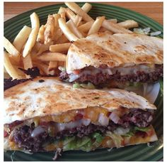Quesadilla Burgers on Pinterest | Chicken Wonton Tacos, Blue Cheese B ...