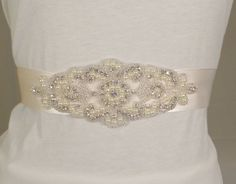 Bridal Belt KIT Crystals and Pearl Bridal by AmazingAppliques