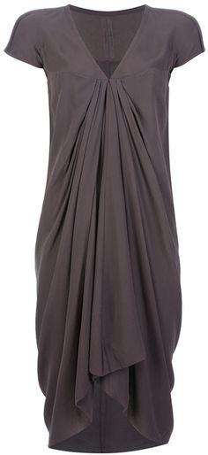 Rick Owens Brown Pleat Detail Dress.