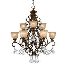 Norwalk 9-light Bronze Umber Chandelier | Overstock.com Shopping - The Best Deals on Sconces & Vanities