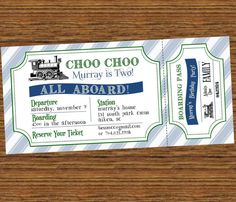 Choo Choo Train 2nd Birthday Party by SevenStoryMountain on Etsy, $12.00