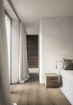 future home design Interior Desing, Interior Styling, Interior Architecture, Architecture Life, Serene Bedroom, Home Bedroom, Bedroom Decor, Design Hall, Custom Drapes