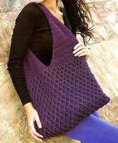tejidos artesanales en crochet: bolso con formas geometicas tejido en crochet