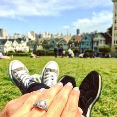 Best Engagement Ring Selfie Pictures: San Francisco Selfie