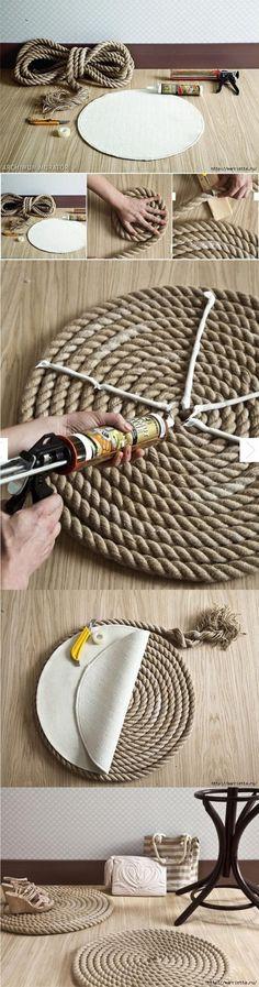 diy alfombra de cuerda