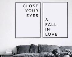 Master bedroom wall decor Printable wall art Above bed art Printable love quote Affiche scandinave And then one day there was you Art Above Bed, Love Posters, Same Love, Living Room Art, Heart Print, Cool Walls, Bedroom Wall, Bedroom Decor, Printable Wall Art