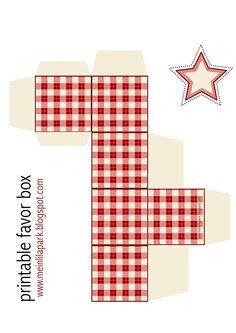 Free printable gingham box - ausdruckbare Geschenkbox - freebie | MeinLilaPark – DIY printables and downloads