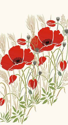 Poppy inmeadowgrasses 1 sheet stencil The Large Poppy and Wild Grasses Stencil is a stunning stencil design taken from Henny's summer meadow drawings which capture the magic of these timeless beauties. The Large Poppy and Wild Grasses Stencil is a large single motif featuring a graceful full blo