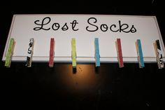 wonder if there'd be enough hooks for all the unpaired socks that show up in my laundry room?
