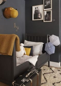 Awesome Grey and Yellow Bedroom Inspirations Decor Room, Bedroom Decor, Home Decor, Bedroom Ideas, Design Bedroom, Bedroom Furniture, Modern Kids, Modern Room, Kid Spaces