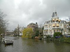 Amsterdam Amsterdam, Taj Mahal, Mansions, House Styles, Building, Travel, Home Decor, Places, Mansion Houses