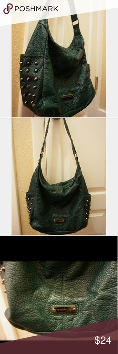 Studded Steve Madden bag Unique dark green studded bag from Steve Madden. Great condition. Very clean inside & out. Steve Madden Bags Shoulder Bags