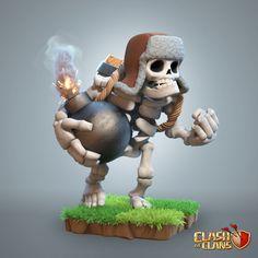 ArtStation - Giant Skeleton - Clash of Clans, Supercell Art Coc Clash Of Clans, Clash Of Clans Game, Clas Of Clan, Game Character, Character Design, Dragon Ball, Giant Skeleton, Digimon Adventure 02, Monster Design