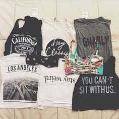 Brandy Melville Graphic tees. Yes please