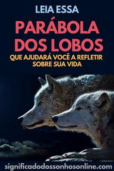 Leia Essa Parábola Dos Lobos Que Ajudará Você a Refletir Sobre Sua Vida! CLIQUE NO PIN e confira!