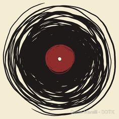 Spinning vinyl logo