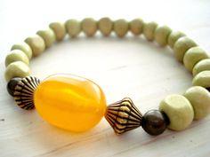 Yoga Bracelet Boho Jewellery Boho Style Nepal Amber by Gnosticos, $22.00