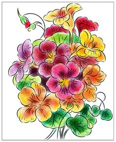 Nicole's Free Coloring Pages: March 2020 Fruit Coloring Pages, Bunny Coloring Pages, Horse Coloring Pages, Flower Coloring Pages, Mandala Coloring Pages, Free Coloring, Coloring Books, Fruit Flowers, Colorful Flowers
