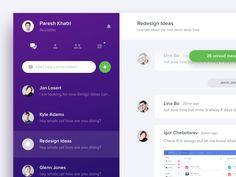 Unused Chat App Concept by Paresh Khatri #Design Popular #Dribbble #shots