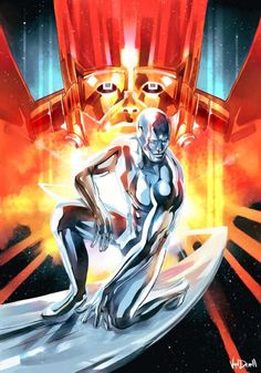 Silver Surfer & Galactus by Vandrell