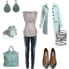 Gray and Light Teal