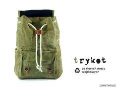 torebki z recyclingu - unisex-Plecak z noszy wojskowych