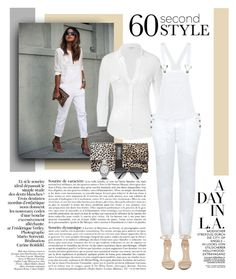 """""""60 Second Style: Wear Overalls to Work!"""" by cruzeirodotejo ❤ liked on Polyvore featuring James Perse, Citizens of Humanity, Fab, Jeffrey Campbell, Express, Victoria Beckham and overallsatwork"""