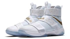 An Official Look At The Nike LeBron Zoom Soldier 10 Gold Medal