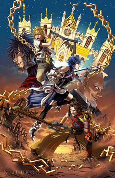 Tags: Anime, Kingdom Hearts, Aqua (Kingdom Hearts), Kingdom Hearts: Birth by Sleep, Terra