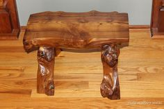 Here's an awesome bench -- made with vintage hand tools from a downed mulberry tree!