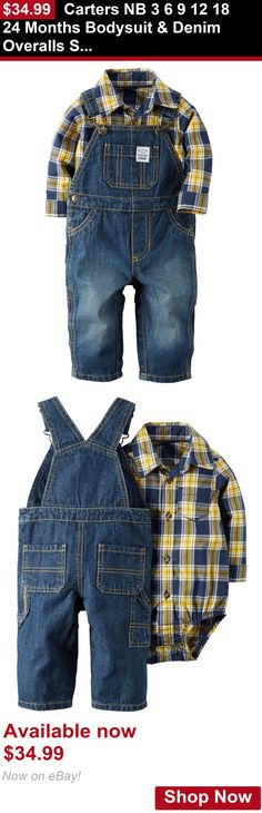 Baby boys clothing shoes and accessories: Carters Nb 3 6 9 12 18 24 Months Bodysuit And Denim Overalls Set Baby Boy Clothes BUY IT NOW ONLY: $34.99