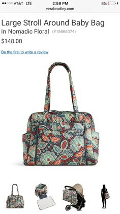 8e6b0a232d5 Nomadic floral diaper bag 2016 Vera Bradley Boy Diaper Bags, Best Diaper Bag,  Vera