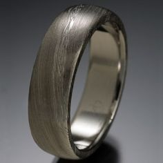 Chris Ploof - Naked Damascus Ring Pathways Pattern, Rounded Top, 6mm. Damascus steel. DVVS Fine Jewelry.