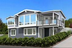 For the Front Sloping Lot - 23533JD #twostoreyhomeplans