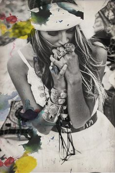 Black and White, Boho summer lace dress and Bohemian jewelry! ☮ ☮ Hippie Style ☮ ☮