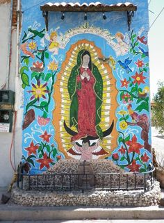 Virgin of Guadalupe in San Rafa - tho I'm not religious, I have always loved this image.