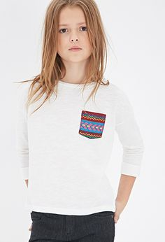 Embroidered Pocket Tee (Kids) | Forever 21 girls - 2049257990
