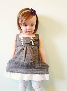 Free Pattern: Button-Top Dress for Girls