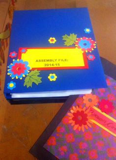 Art ,Craft ideas and bulletin boards for elementary schools: File | Folder cover decoration