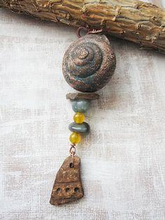 Copper Shell Pendant by Mary Bulanova
