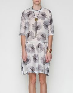 subtle grey florals  Carin Wester dress