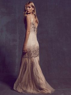 For Love & Lemons Lolo Lace Fit and Flare Dress at Free People Clothing Boutique