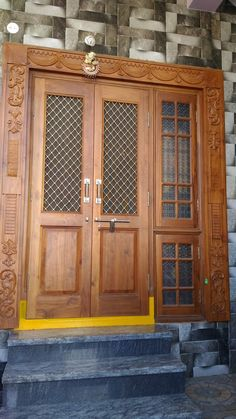 49 ideas for main door design modern glass House Main Door Design, Pooja Room Door Design, Door Design Interior, Home Design, Craftsman Front Doors, Wood Front Doors, Wooden Doors, Wooden Front Door Design, Double Door Design