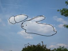 cute idea for art project ~ kids draw on cloud pics.. kids don't sit and stare art the sky like they used to.