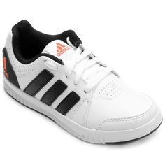 01b29c0194 Tênis Adidas Lk Trainer 7 Synth Infantil - Branco+Preto
